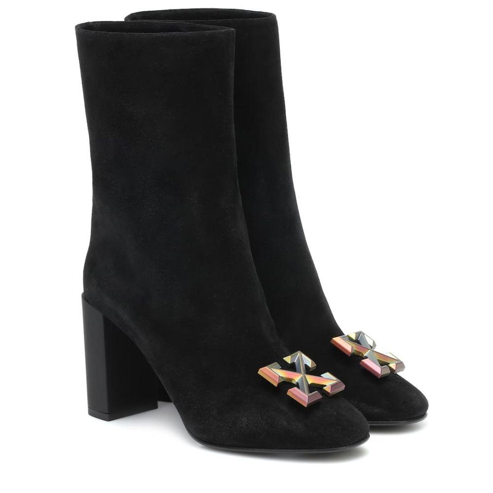 オフホワイト Off-White レディース ブーツ ショートブーツ シューズ・靴【Suede ankle boots】Black No C