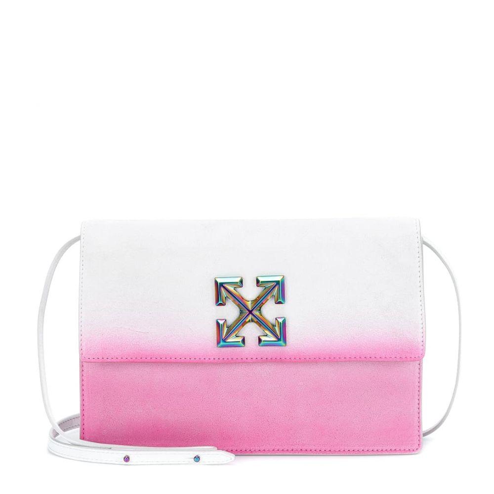 オフホワイト Off-White レディース ショルダーバッグ バッグ【Jitney 1.0 Sprayed crossbody bag】White Fuchsia