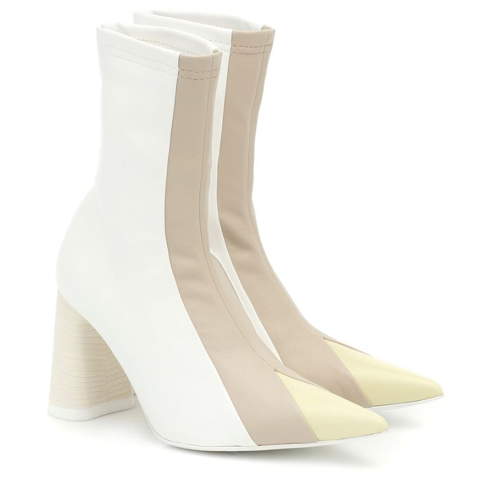 エラリー Ellery レディース ブーツ ショートブーツ シューズ・靴【Helga leather ankle boots】Ivory Ta