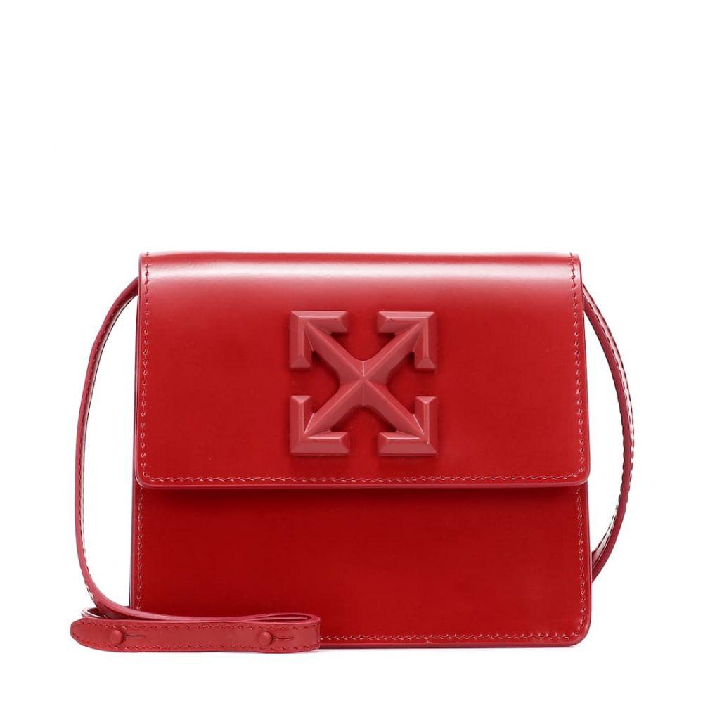 オフホワイト Off-White レディース ショルダーバッグ バッグ【Jitney 0.7 leather crossbody bag】Red