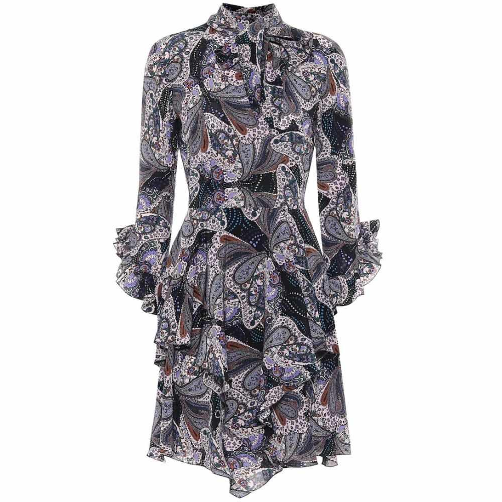 エトロ Etro レディース ワンピース ワンピース・ドレス【Paisley silk dress】Black