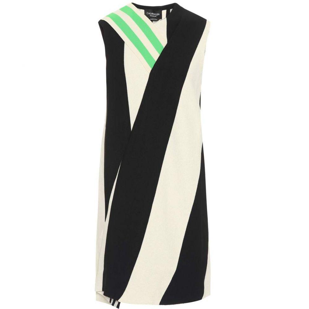 カルバンクライン Calvin Klein 205W39NYC レディース ワンピース ワンピース・ドレス【Cotton-blend dress】Ivory/Black
