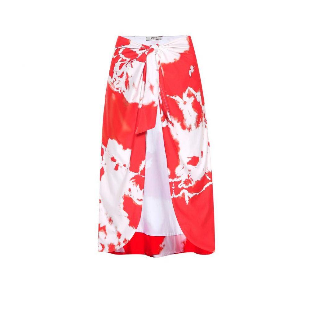 ガニー Ganni レディース ビーチウェア スカート 水着・ビーチウェア【Tie-dye beach skirt】Red/White