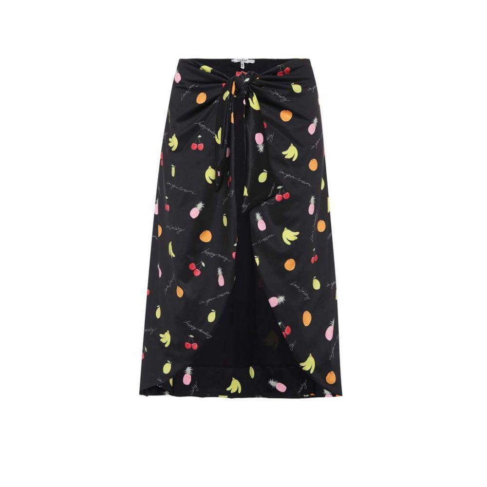 ガニー Ganni レディース ビーチウェア スカート 水着・ビーチウェア【printed swim skirt】Black