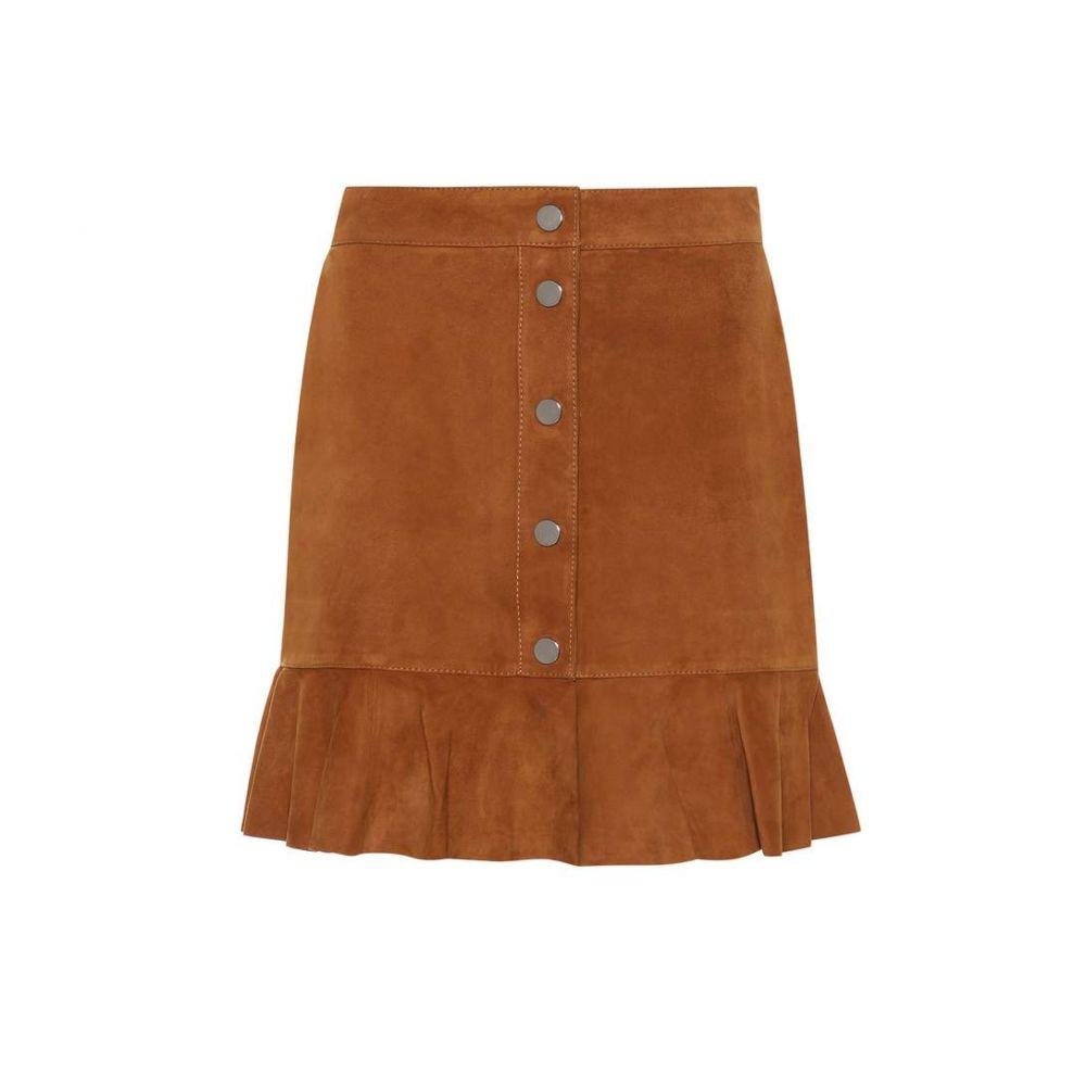 ガニー Ganni レディース スカート 【Salvia suede skirt】Cognac