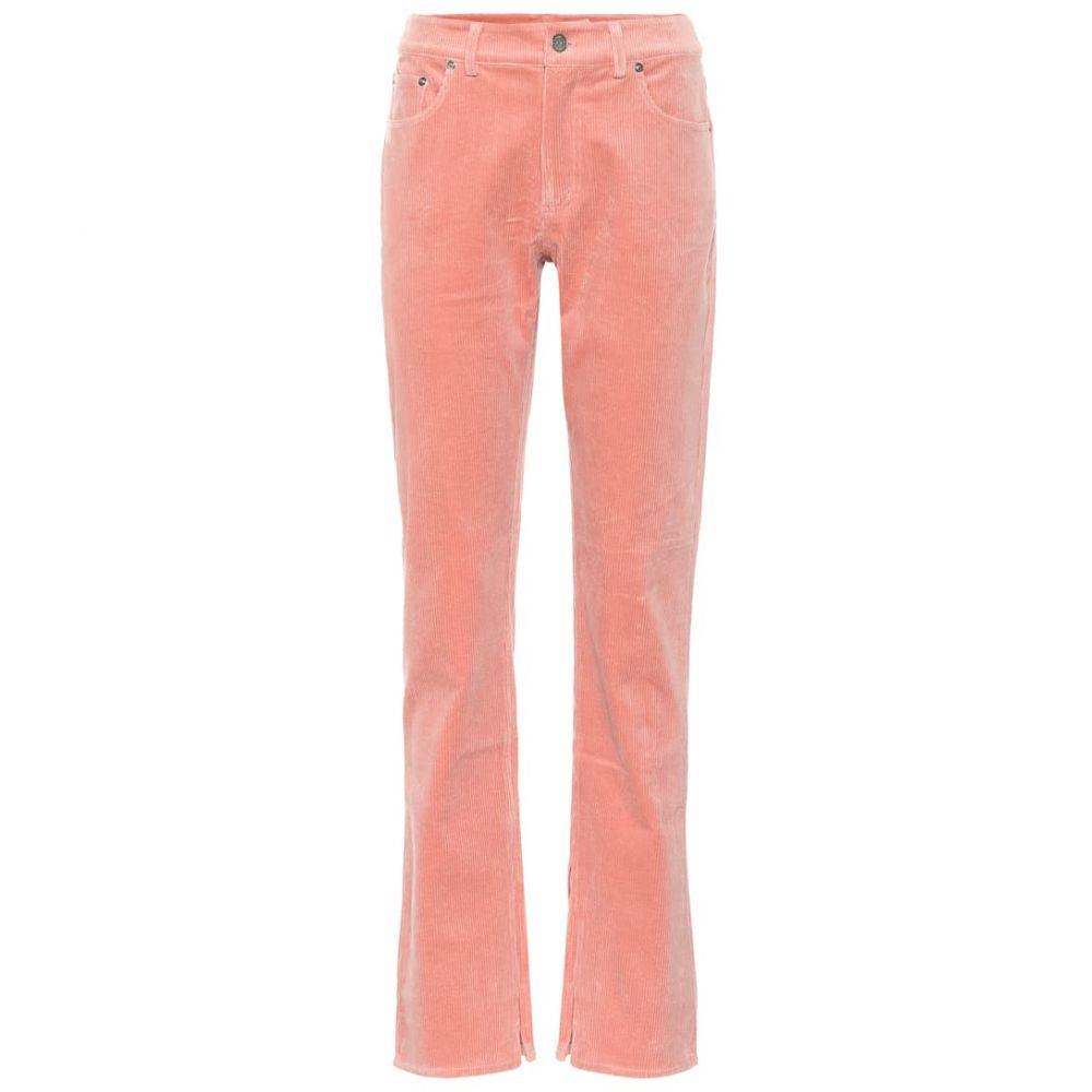 ガニー Ganni レディース ボトムス・パンツ 【Stretch corduroy straight pants】Silver Pink