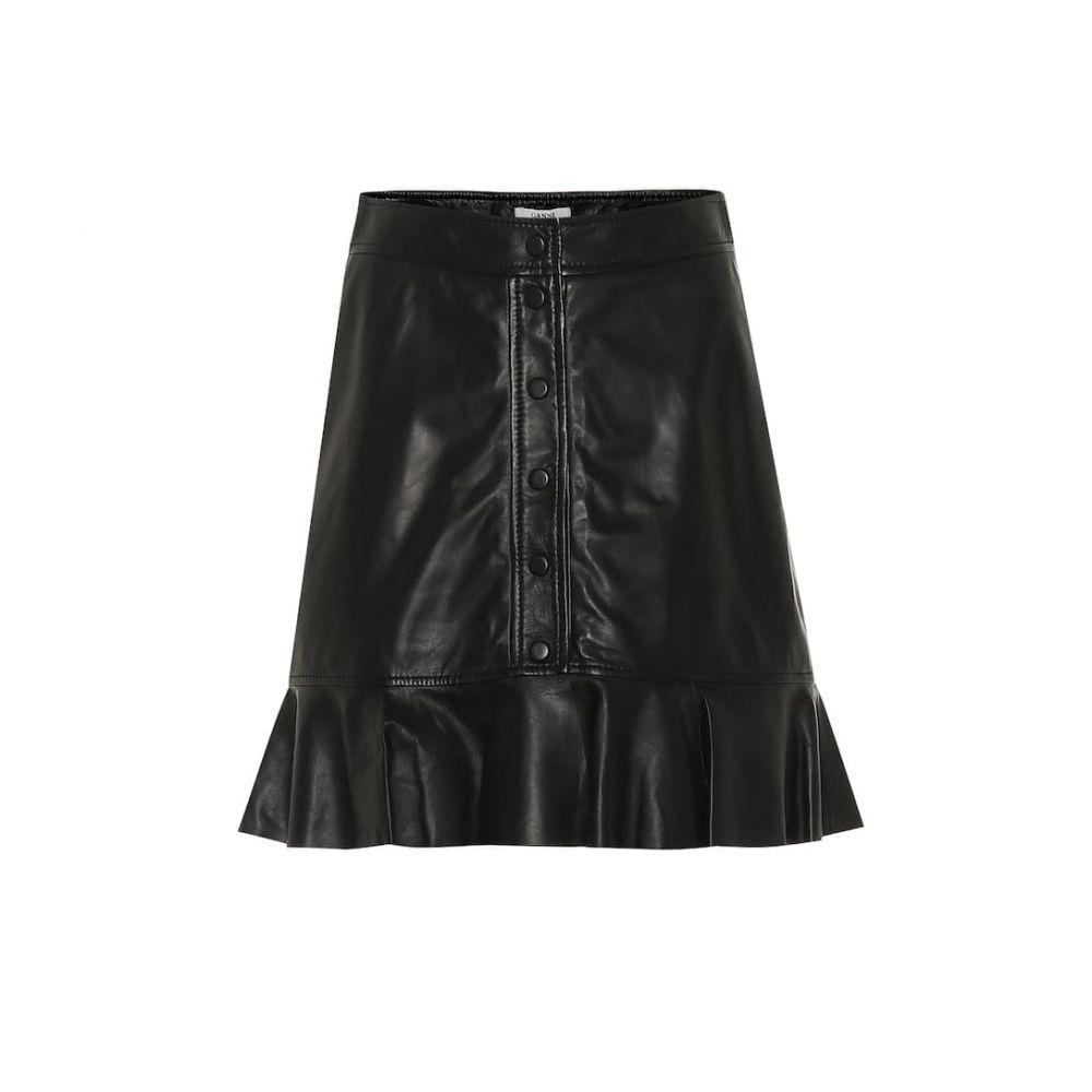 ガニー Ganni レディース スカート 【Leather skirt】Black