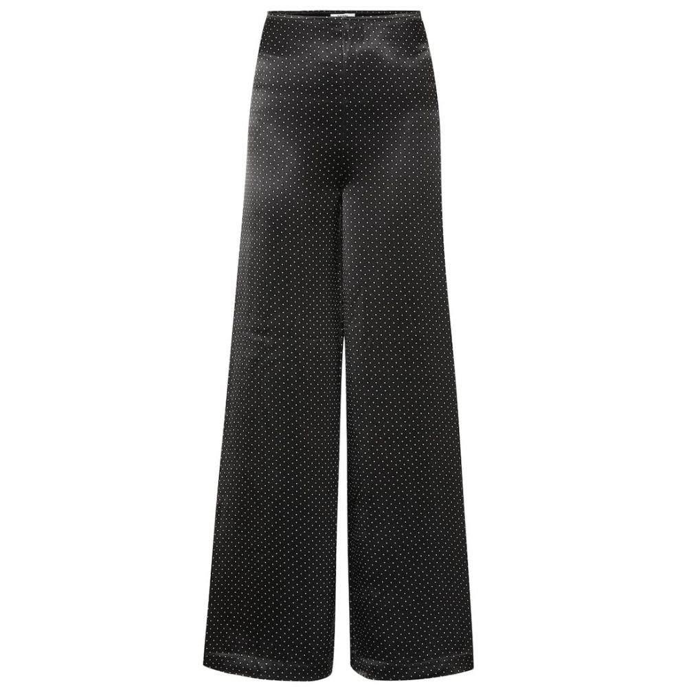 ガニー Ganni レディース ボトムス・パンツ 【Polka-dot wide-leg satin pants】Black