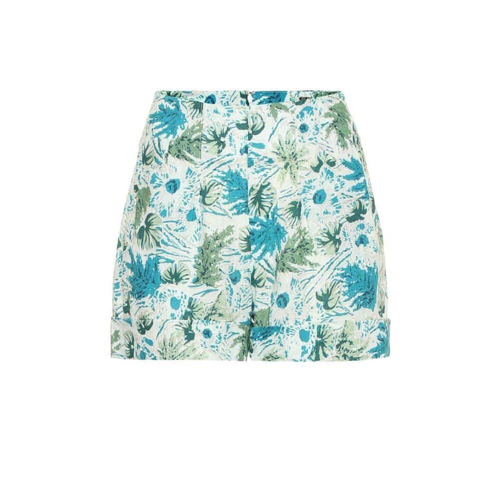 カルト ガイア Cult Gaia レディース ショートパンツ ボトムス・パンツ【Shadi floral linen shorts】Azure Multi