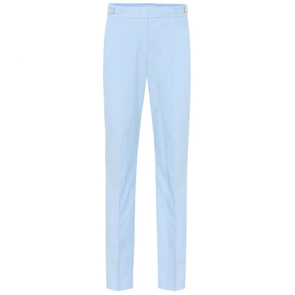 ガブリエラ ハースト Gabriela Hearst レディース スキニー・スリム ボトムス・パンツ【Isabel mid-rise slim corduroy pants】Light Blue