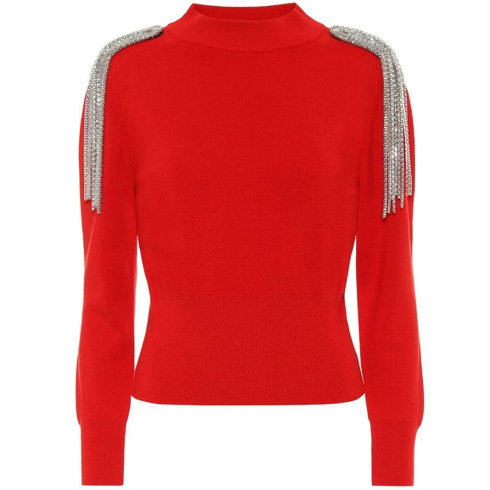 クリストファー ケイン Christopher Kane レディース ニット・セーター トップス【Embellished cotton sweater】Red