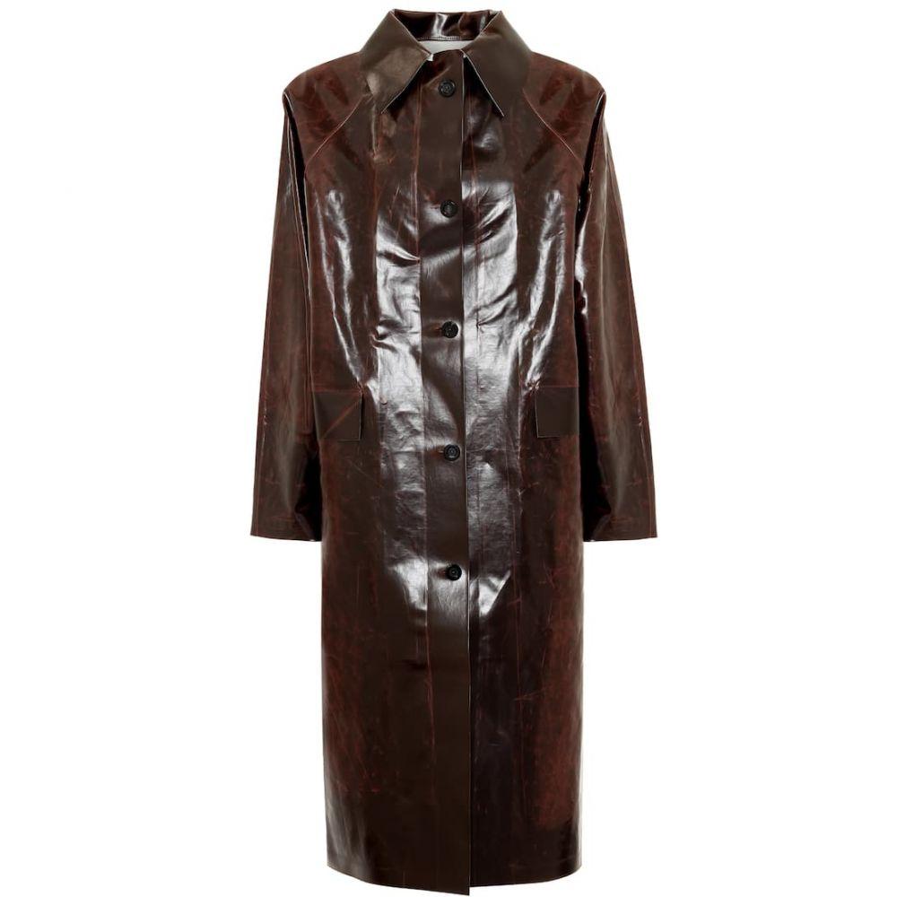 カッスル エディションズ KASSL Editions レディース コート アウター【Skai cotton-blend coat】Brown Dark