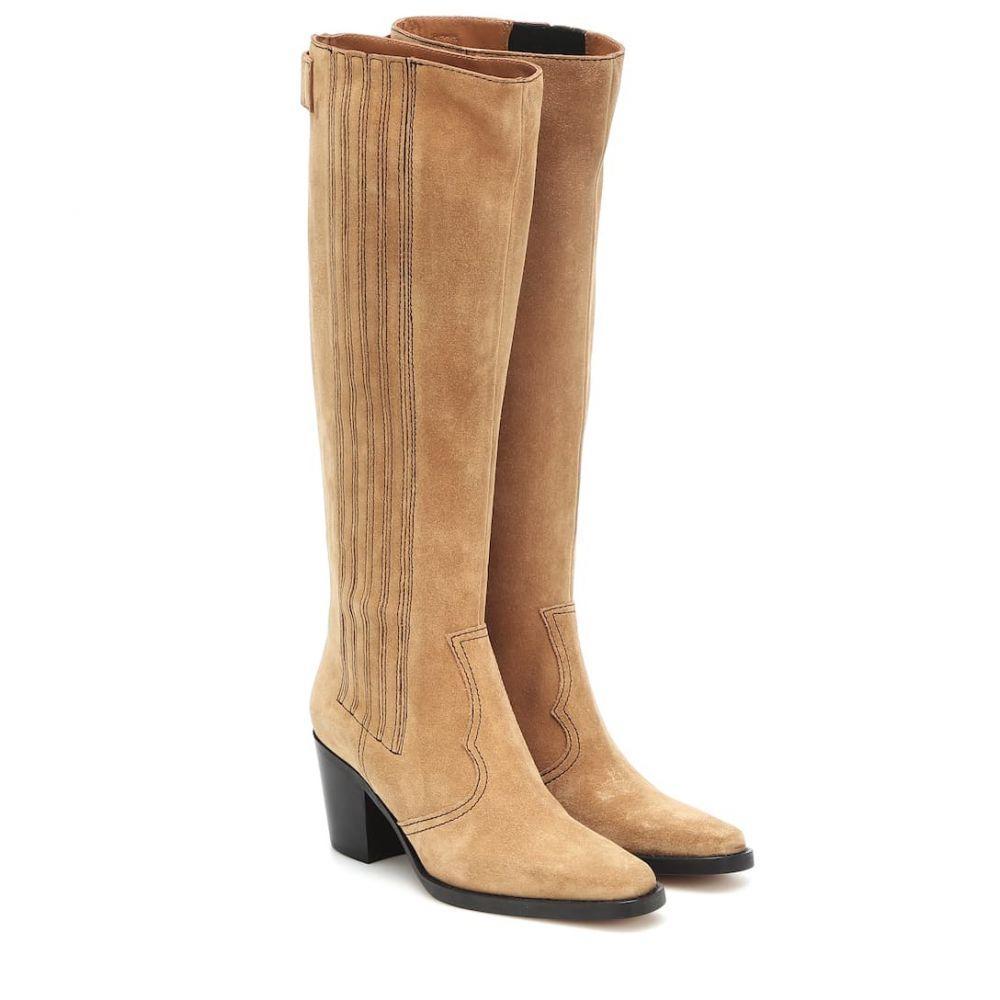 ガニー Ganni レディース ブーツ ウェスタンブーツ シューズ・靴【Western knee-high suede boots】Tannin