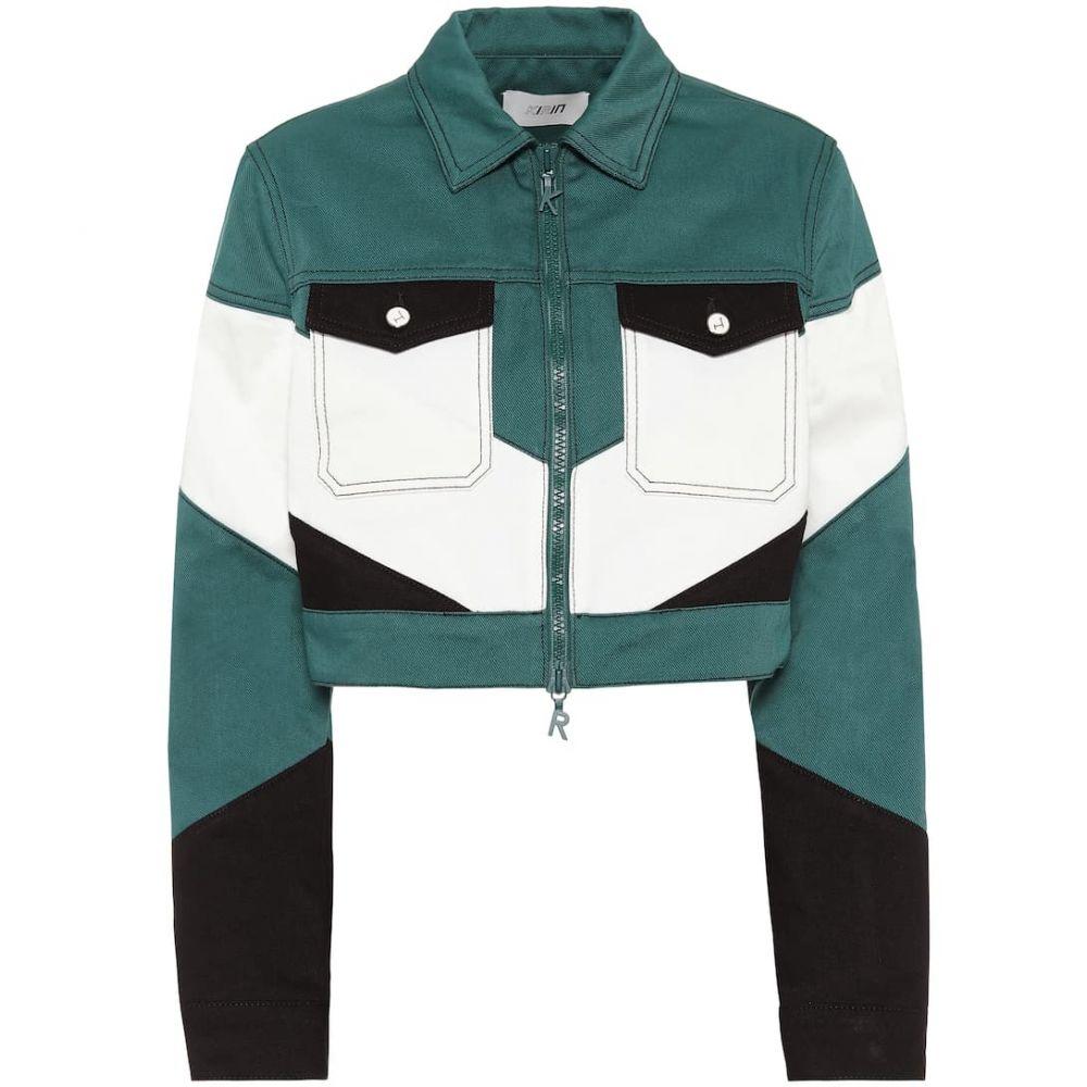 キリン Kirin レディース ジャケット Gジャン アウター【Cropped denim jacket】Forest Green
