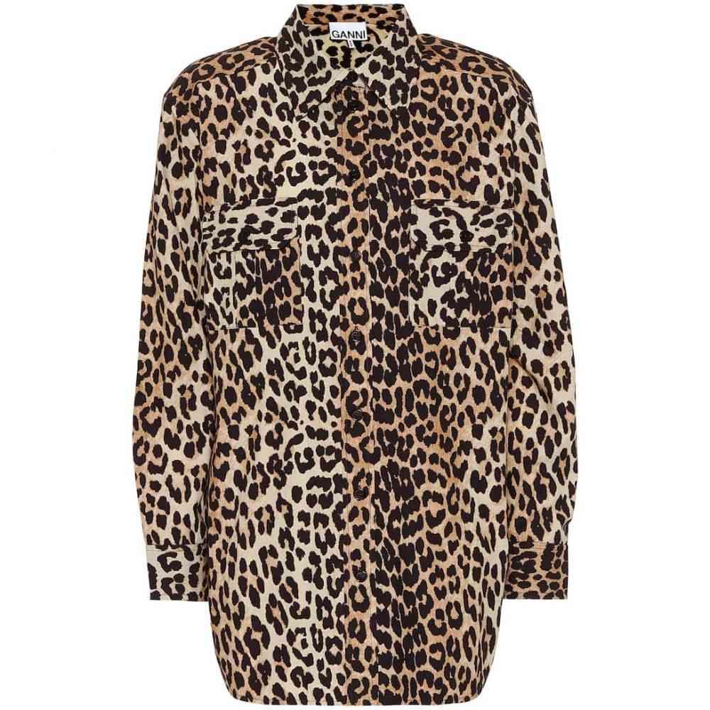 ガニー Ganni レディース ブラウス・シャツ トップス【Leopard-print cotton shirt】Leopard