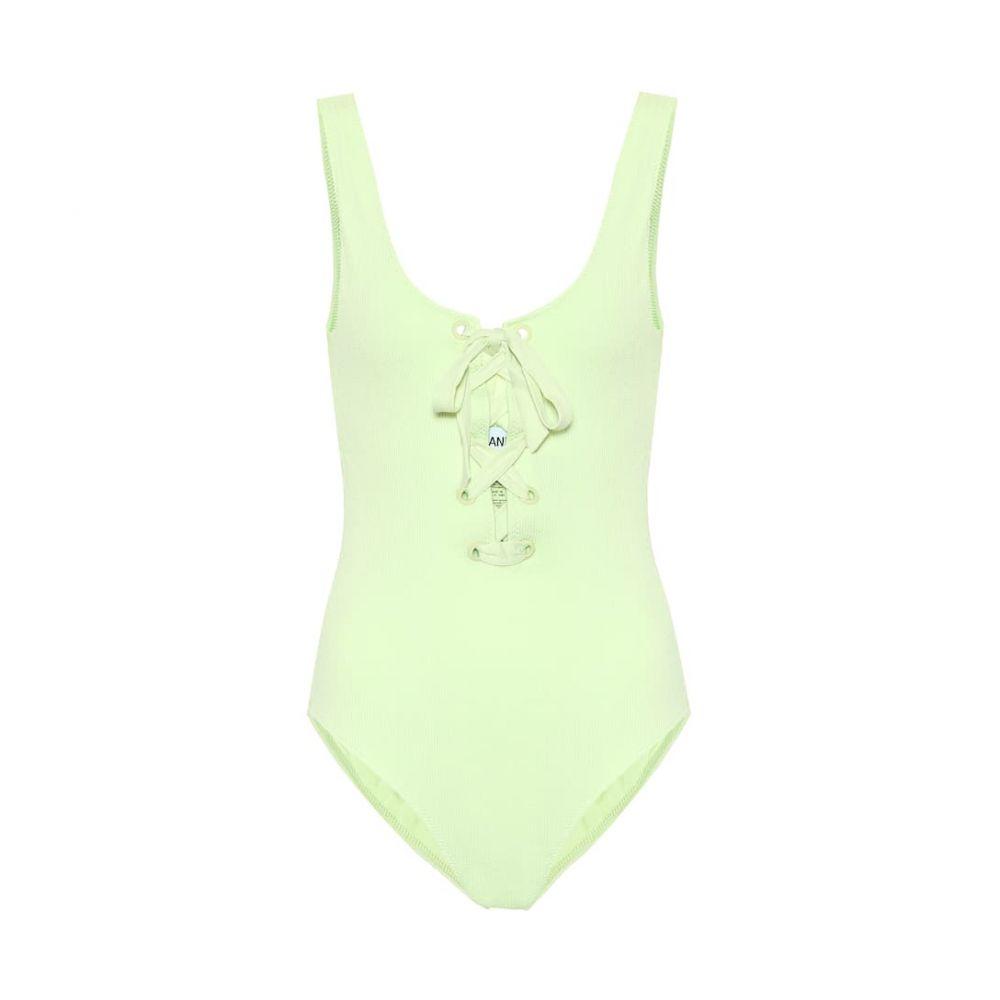 ガニー Ganni レディース ワンピース レースアップ 水着・ビーチウェア【Lace-up swimsuit】Green