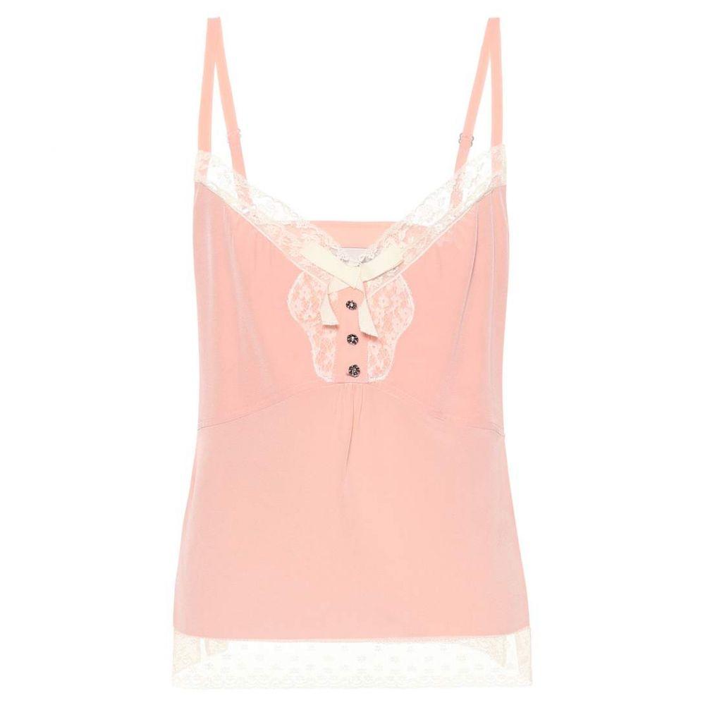 コーチ Coach レディース スリップ・キャミソール インナー・下着【x Selena Gomez silk camisole】Light Pink
