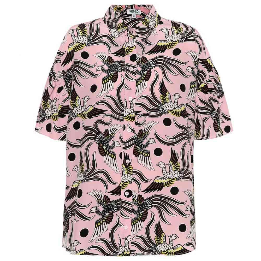 ケンゾー Kenzo レディース ブラウス・シャツ トップス【Printed silk shirt】Flying Phoenix