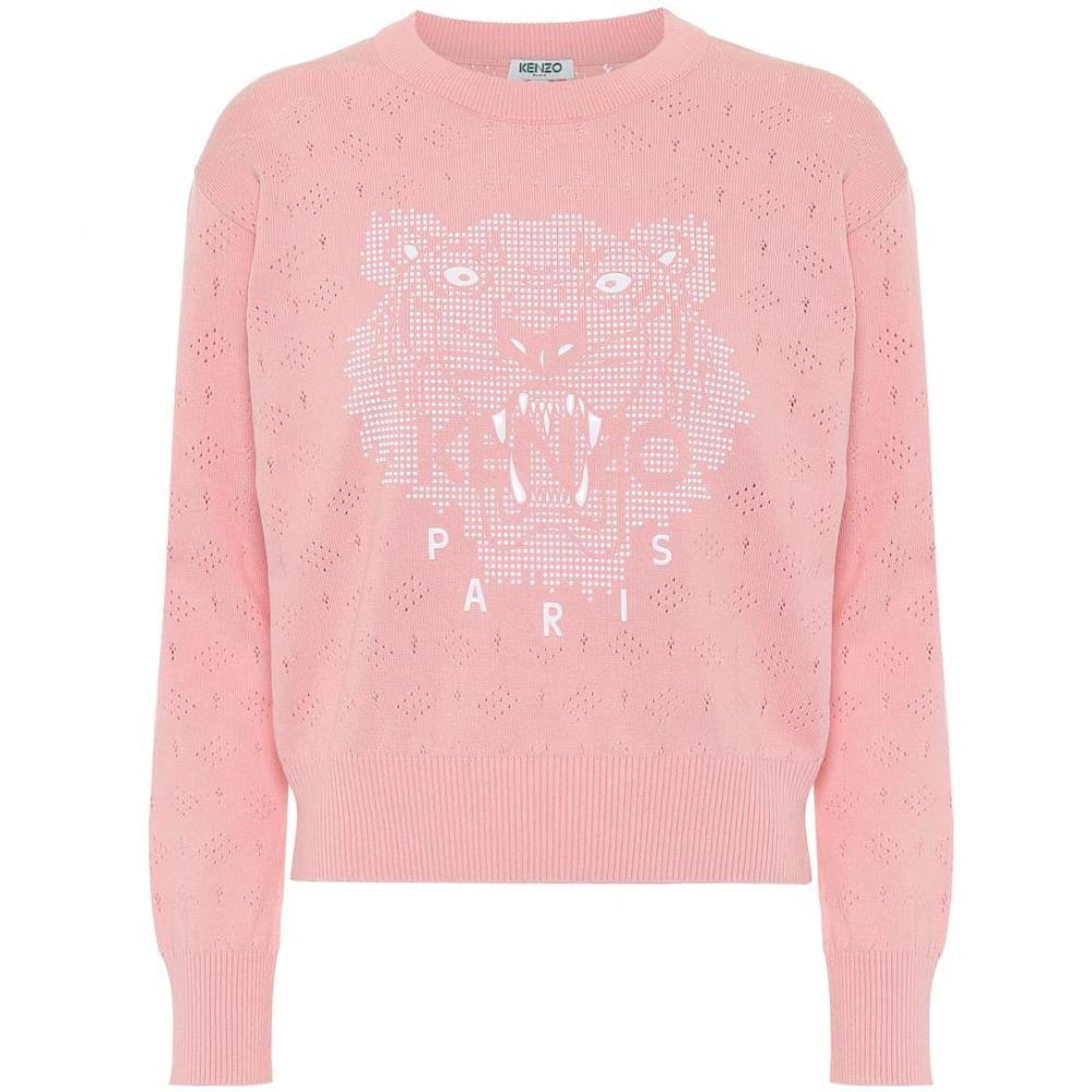 ケンゾー Kenzo レディース ニット・セーター トップス【Logo cotton sweater】Flamingo Pink