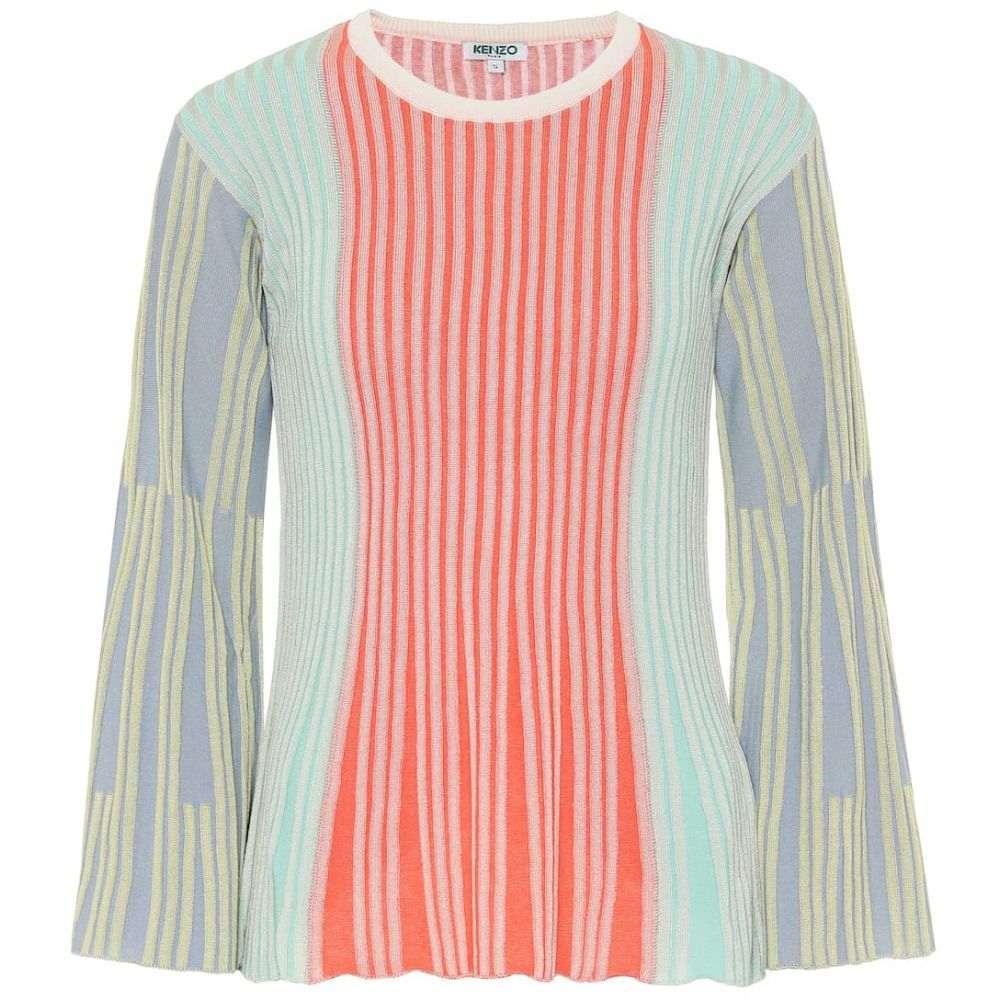 ケンゾー Kenzo レディース ニット・セーター トップス【Ribbed-knit shirt】Multicolor