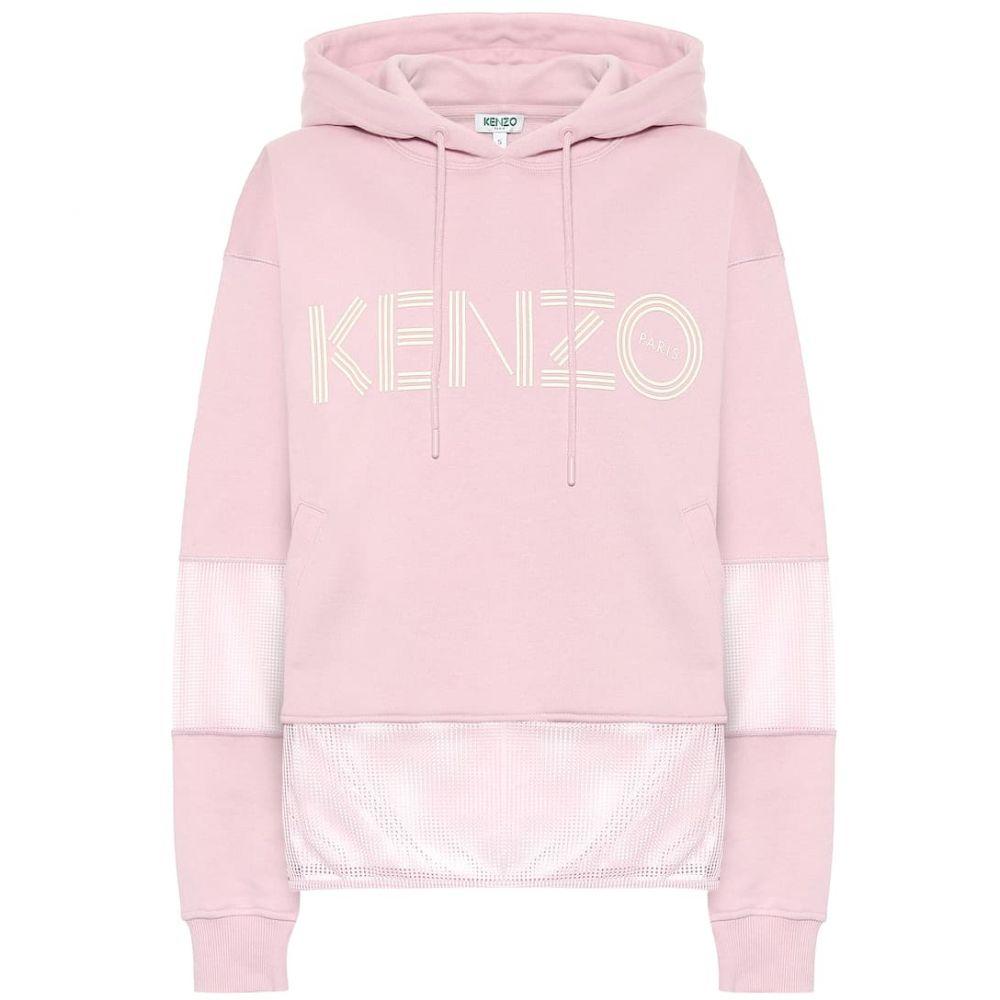 ケンゾー Kenzo レディース パーカー トップス【Logo cotton hoodie】Faded Pink