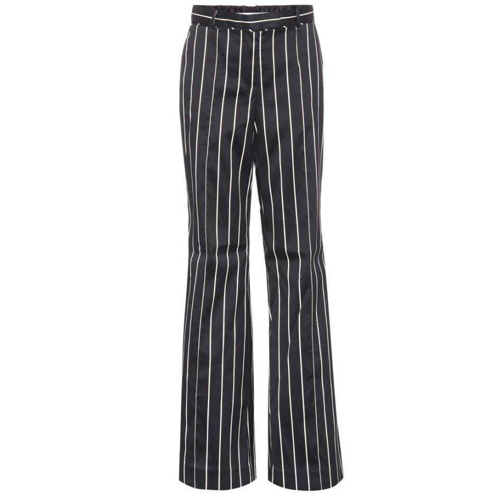 ジマーマン Zimmermann レディース ボトムス・パンツ 【Striped cotton-blend trousers】Black/Pearl