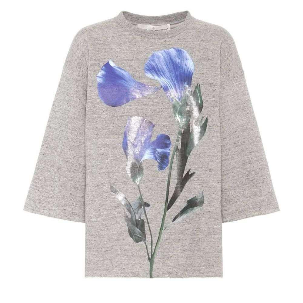 ゴールデン グース Golden Goose レディース スウェット・トレーナー トップス【Liliana printed cotton sweatshirt】Melange Grey/Flower
