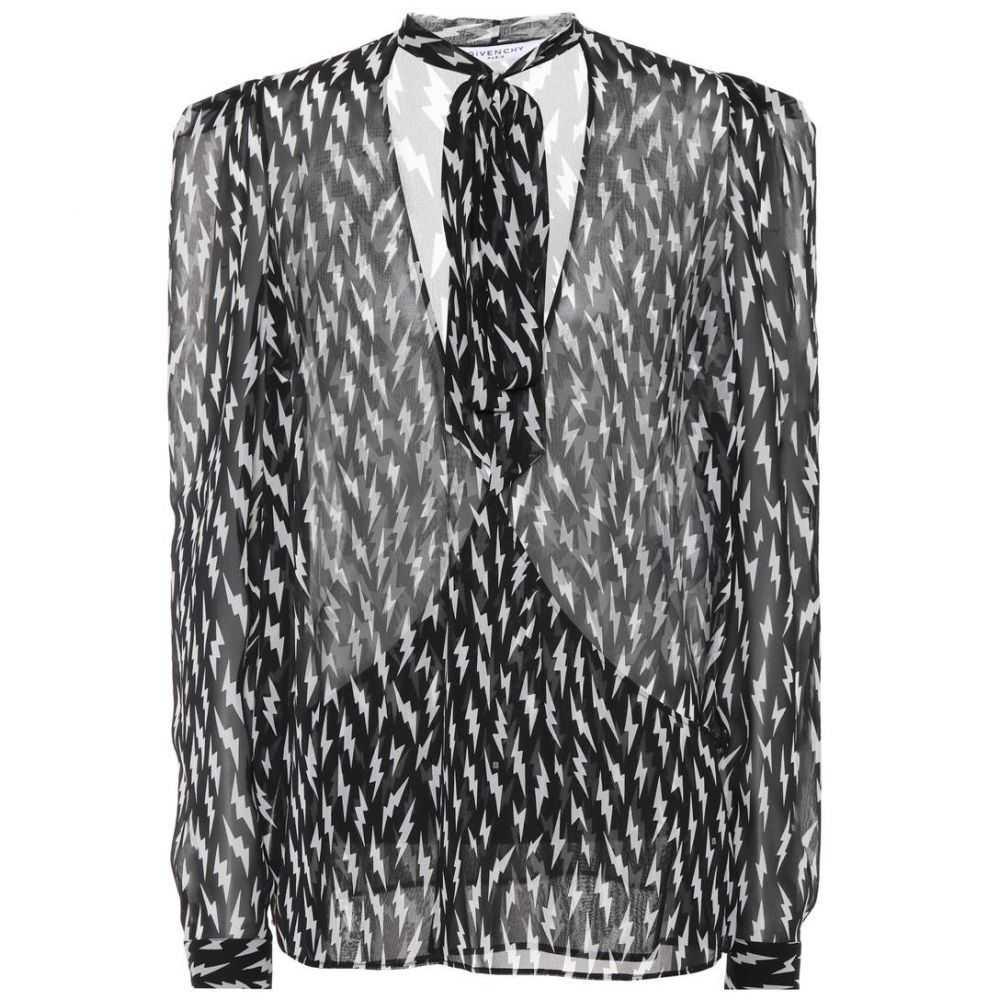 ジバンシー Givenchy レディース トップス 【Printed silk top】Black/White
