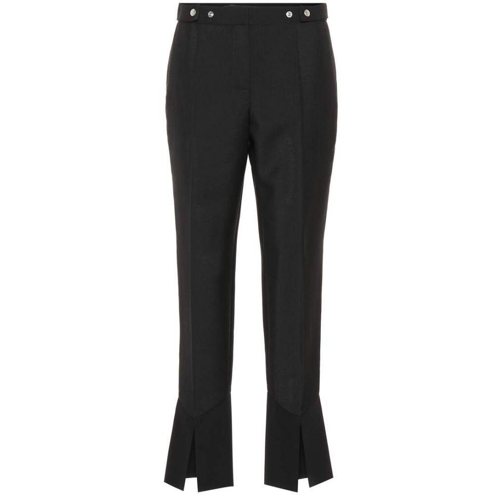 ジバンシー Givenchy レディース クロップド ボトムス・パンツ【Mohair and wool cropped pants】Black