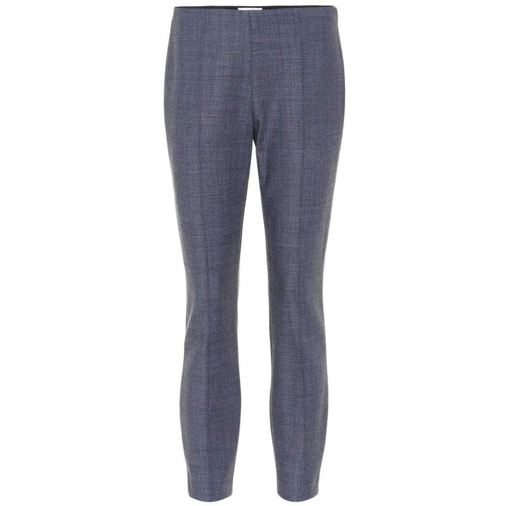 ザ ロウ The Row レディース スキニー・スリム ボトムス・パンツ【Cosso wool-blend skinny pants】Grey Blue Melange
