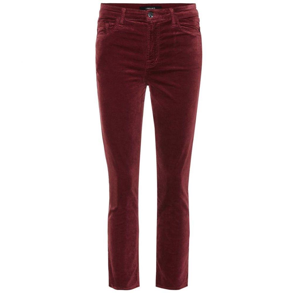 ジェイ ブランド J Brand レディース ジーンズ・デニム ボトムス・パンツ【Ruby cropped high-rise skinny jeans】oxblood