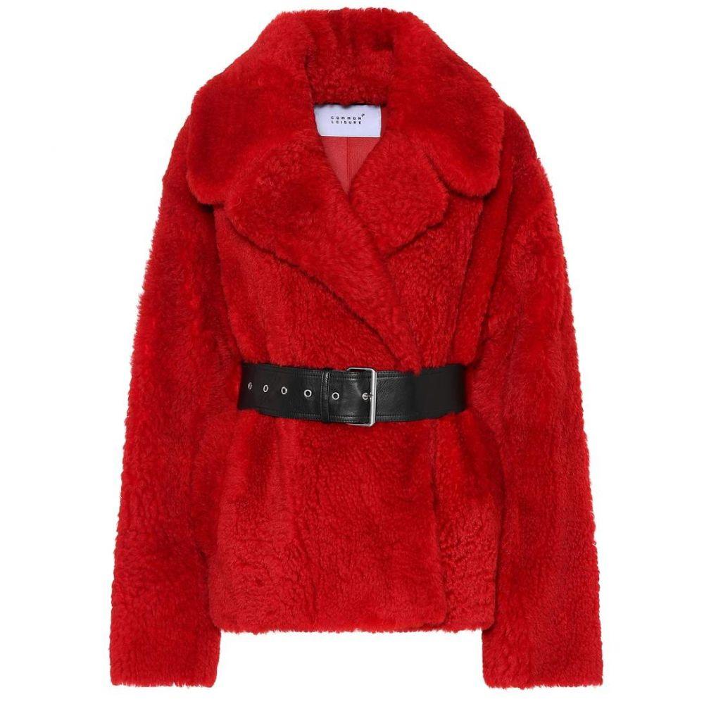 コモン レジャー Common Leisure レディース ジャケット シアリング アウター【Love Short shearling jacket】Red