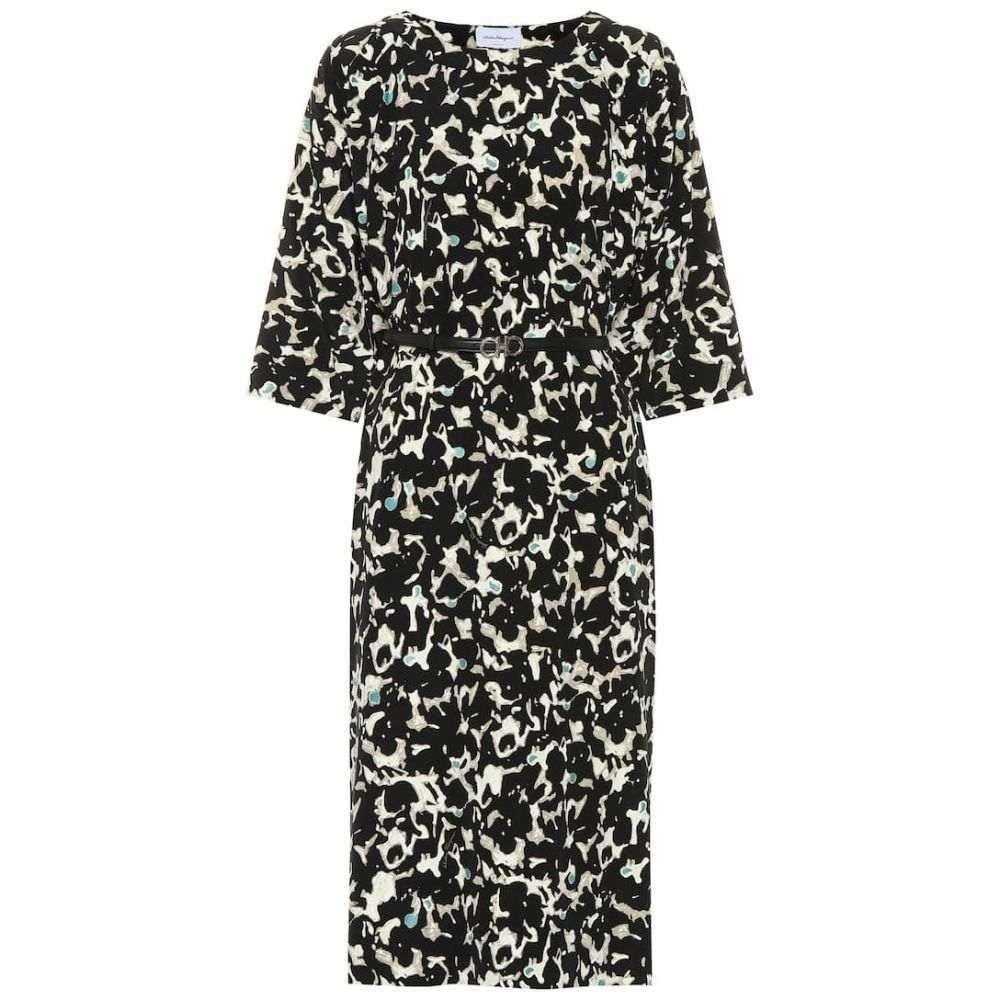 サルヴァトーレ フェラガモ Salvatore Ferragamo レディース ワンピース ワンピース・ドレス【Printed silk dress】Bi/Col Fondo Nero