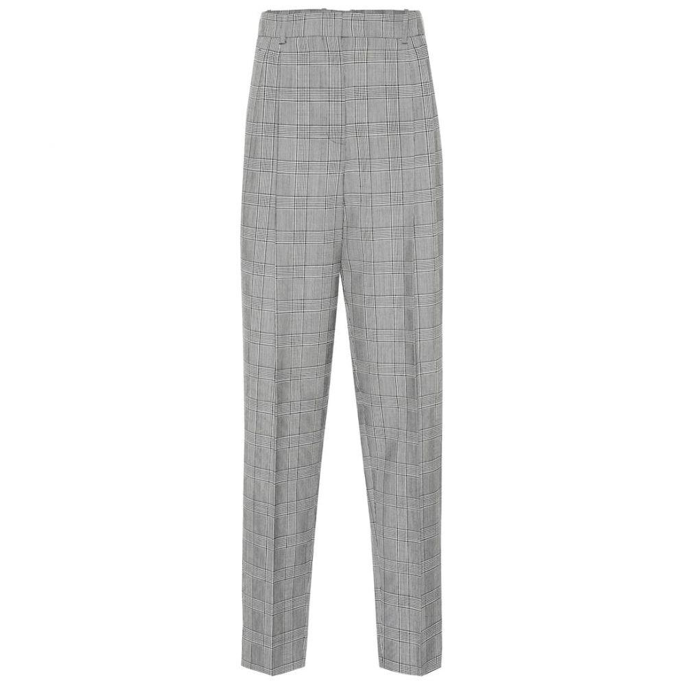 ジバンシー Givenchy レディース ボトムス・パンツ 【Plaid high-rise straight wool pants】Black/Natural