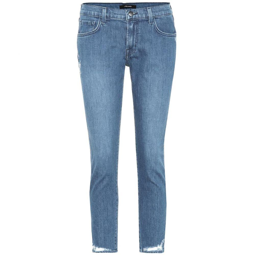 ジェイ ブランド J Brand レディース ジーンズ・デニム ボトムス・パンツ【Sadey cropped mid-rise skinny jeans】Solar