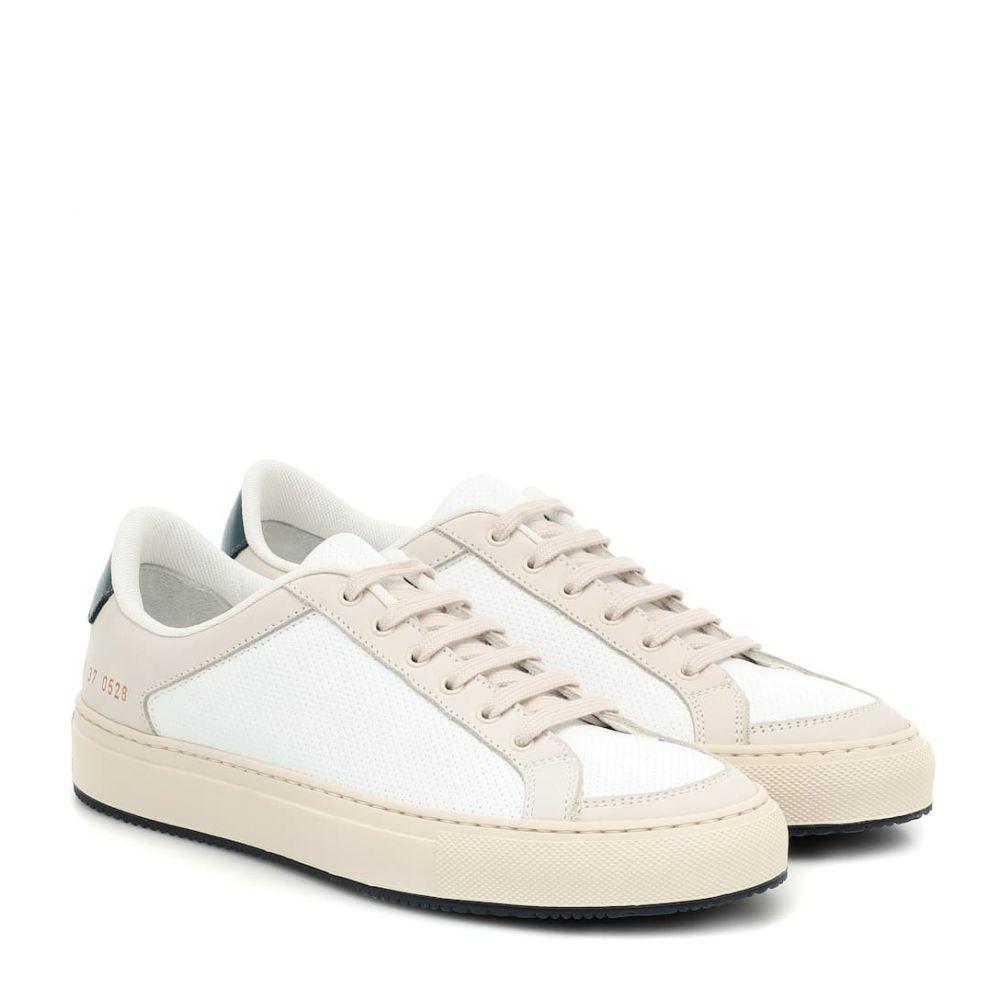コモン プロジェクト Common Projects レディース スニーカー シューズ・靴【Retro Low 70s leather sneakers】White/Navy