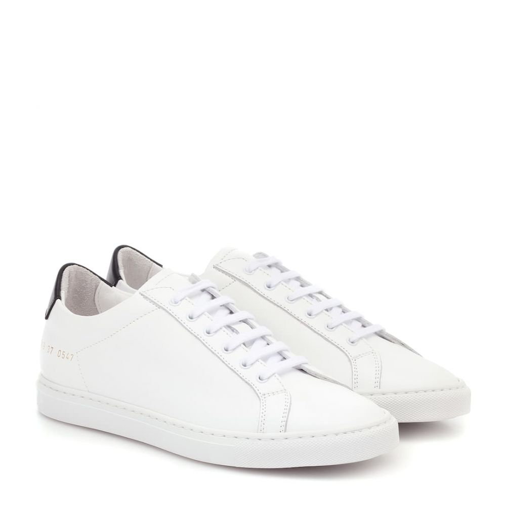 コモン プロジェクト Common Projects レディース スニーカー シューズ・靴【Retro Low leather sneakers】White/Black