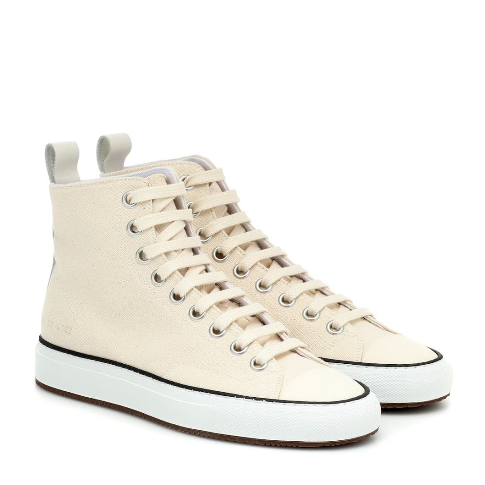 コモン プロジェクト Common Projects レディース スニーカー シューズ・靴【Tournament high-top canvas sneakers】Off White
