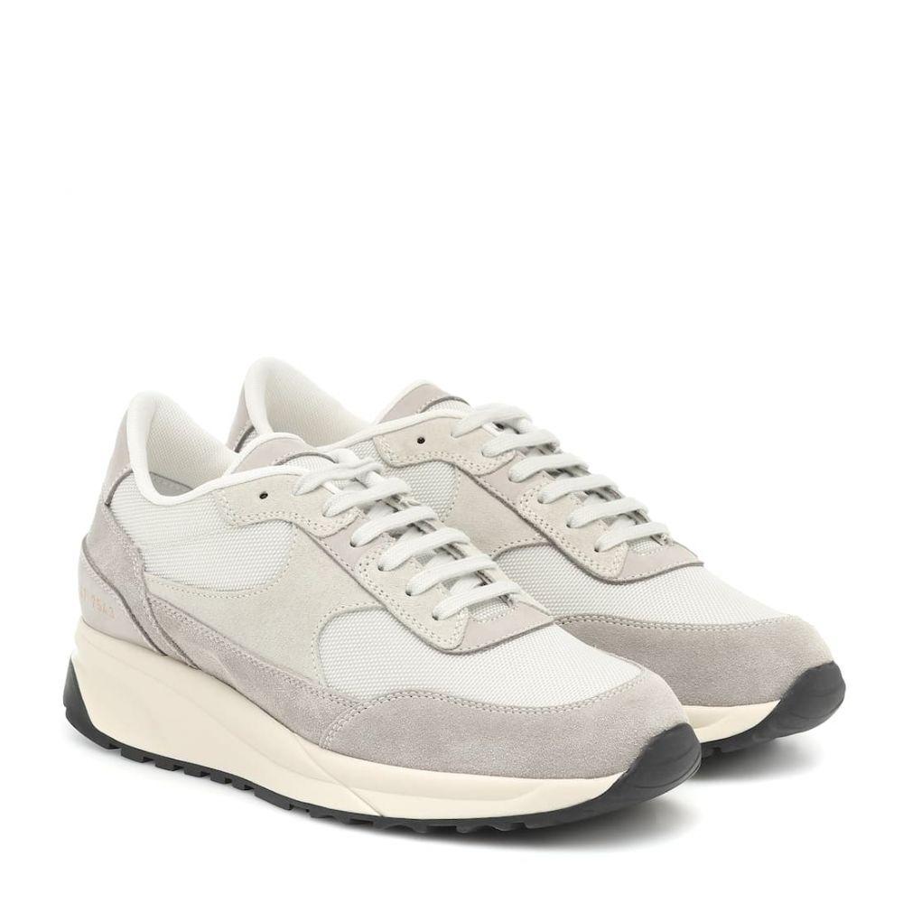 コモン プロジェクト Common Projects レディース スニーカー シューズ・靴【Track Classic suede and mesh sneakers】Grey