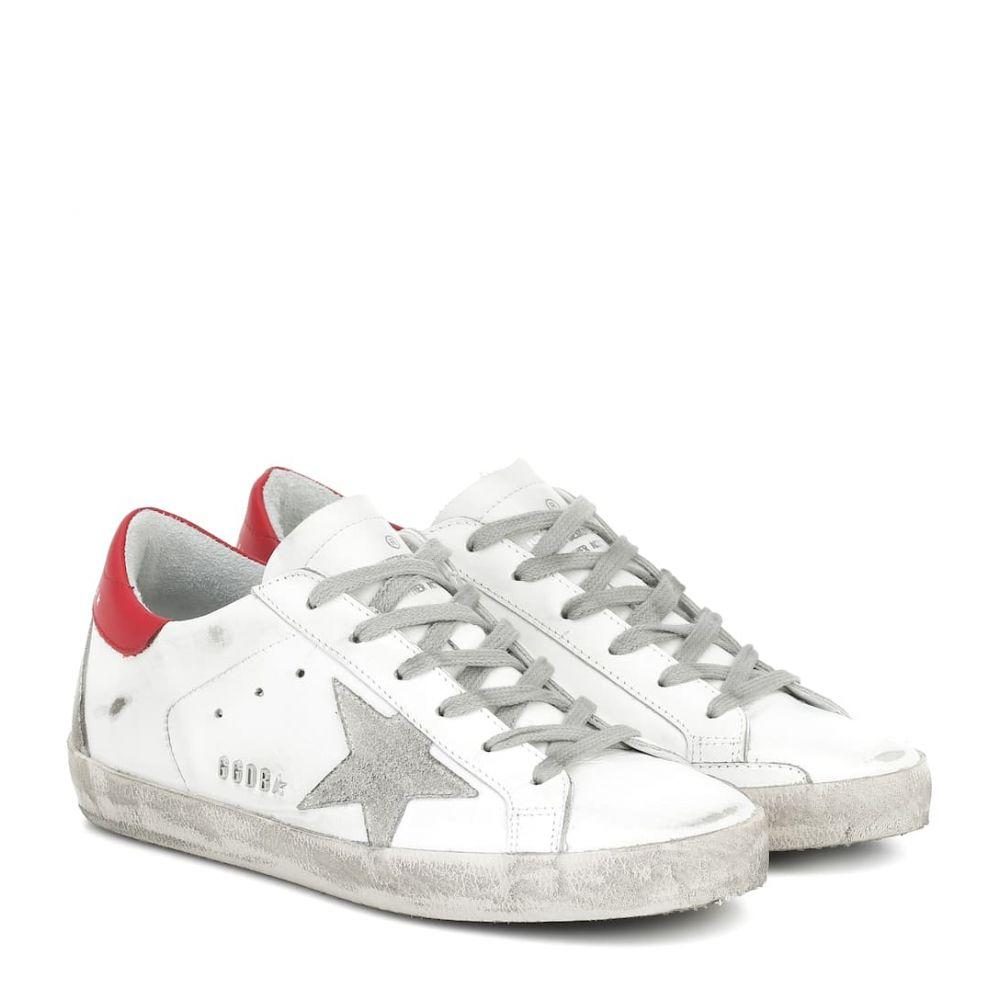 ゴールデン グース Golden Goose レディース スニーカー シューズ・靴【Superstar leather sneakers】White-Red Leather-Metal Letter