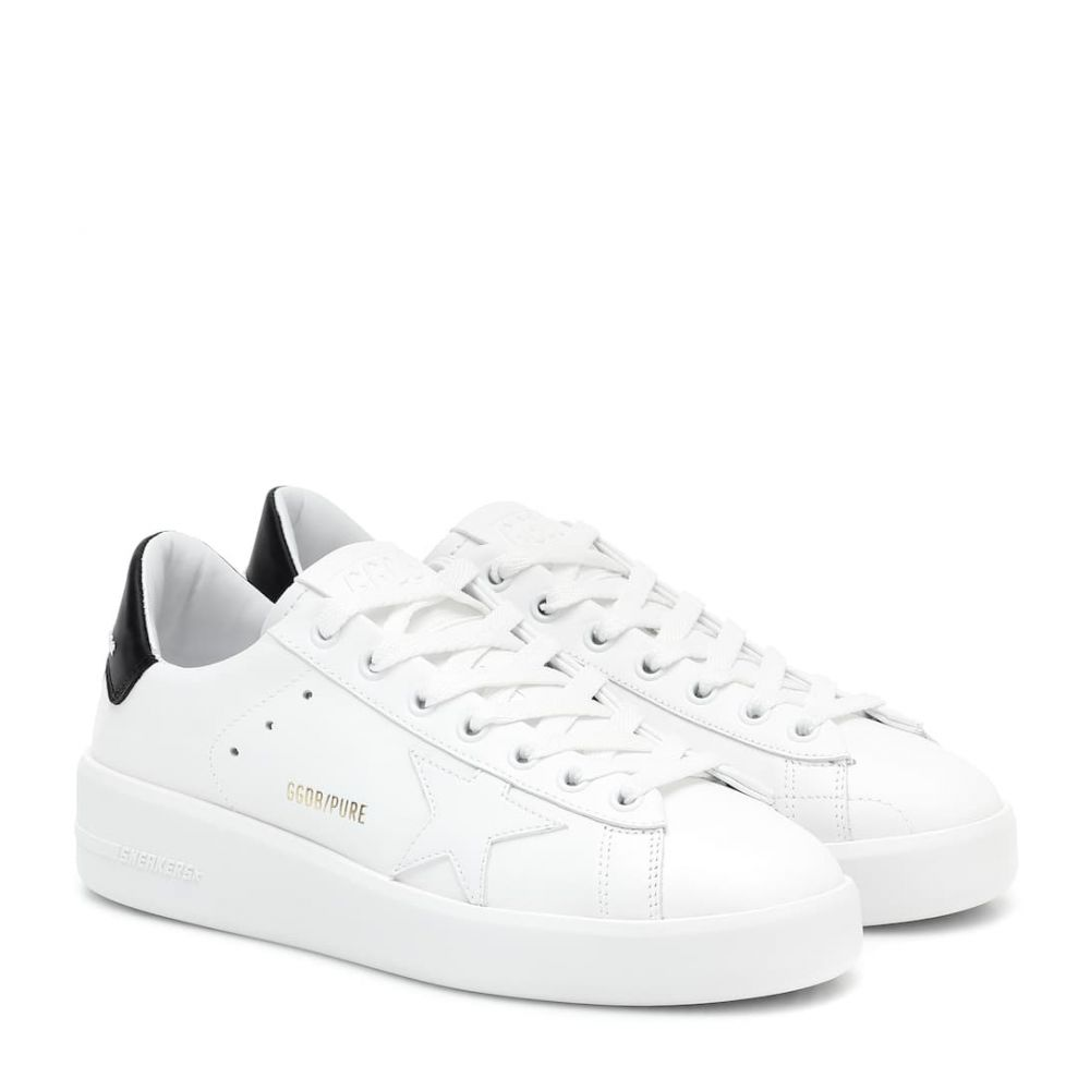 ゴールデン グース Golden Goose レディース スニーカー シューズ・靴【Pure Star leather sneakers】White Leather-Black Heel