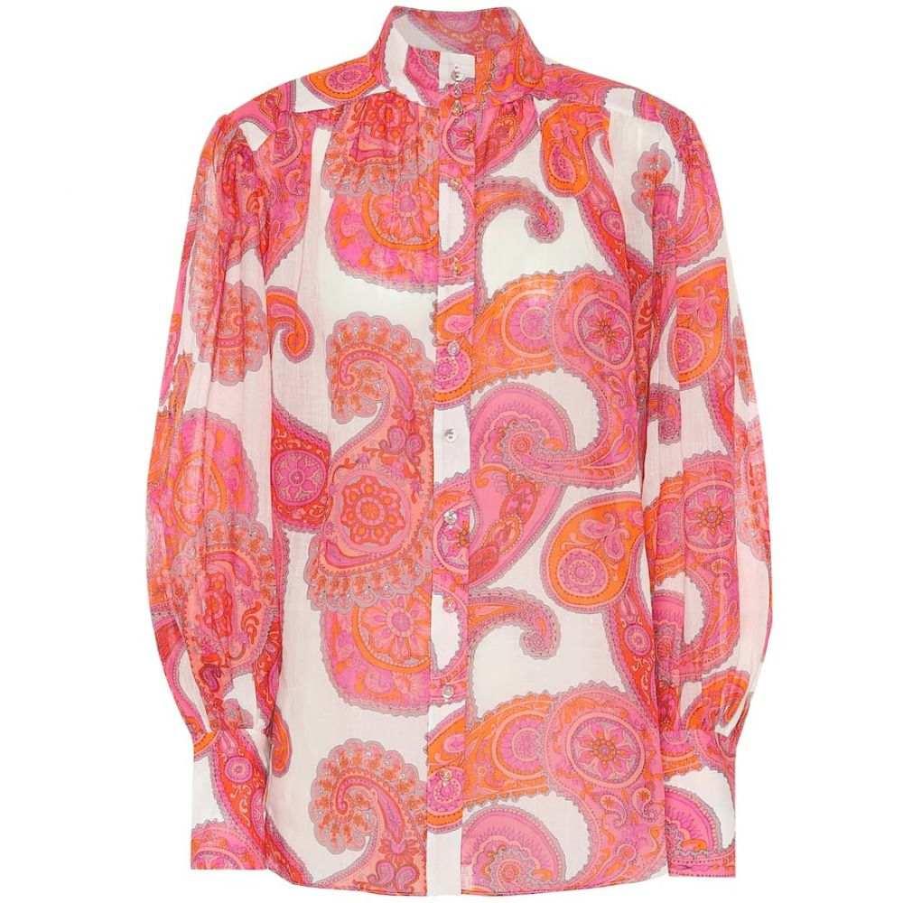 ジマーマン Zimmermann レディース ブラウス・シャツ トップス【Peggy paisley ramie blouse】Magenta Ivory Paisley