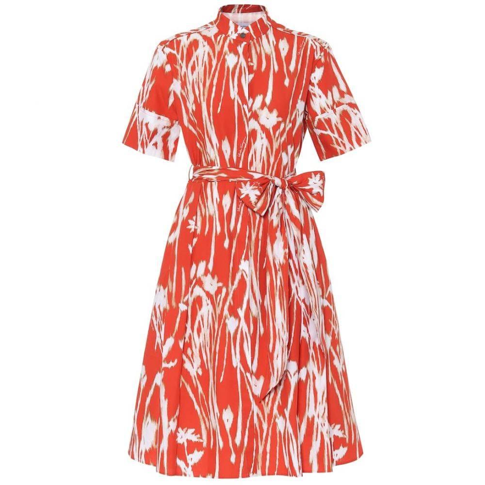 サルヴァトーレ フェラガモ Salvatore Ferragamo レディース ワンピース ワンピース・ドレス【Printed cotton dress】Orange