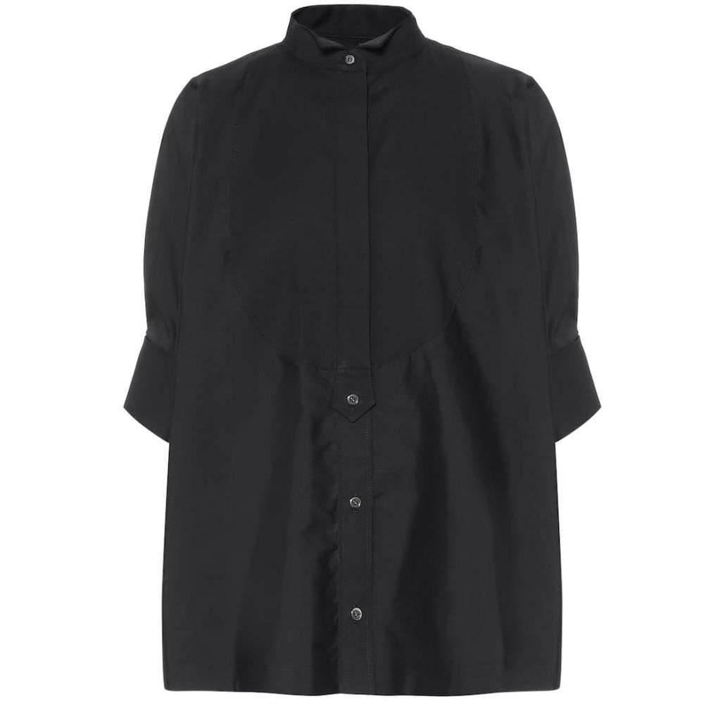 サカイ Sacai レディース ブラウス・シャツ トップス【Poplin shirt】Black