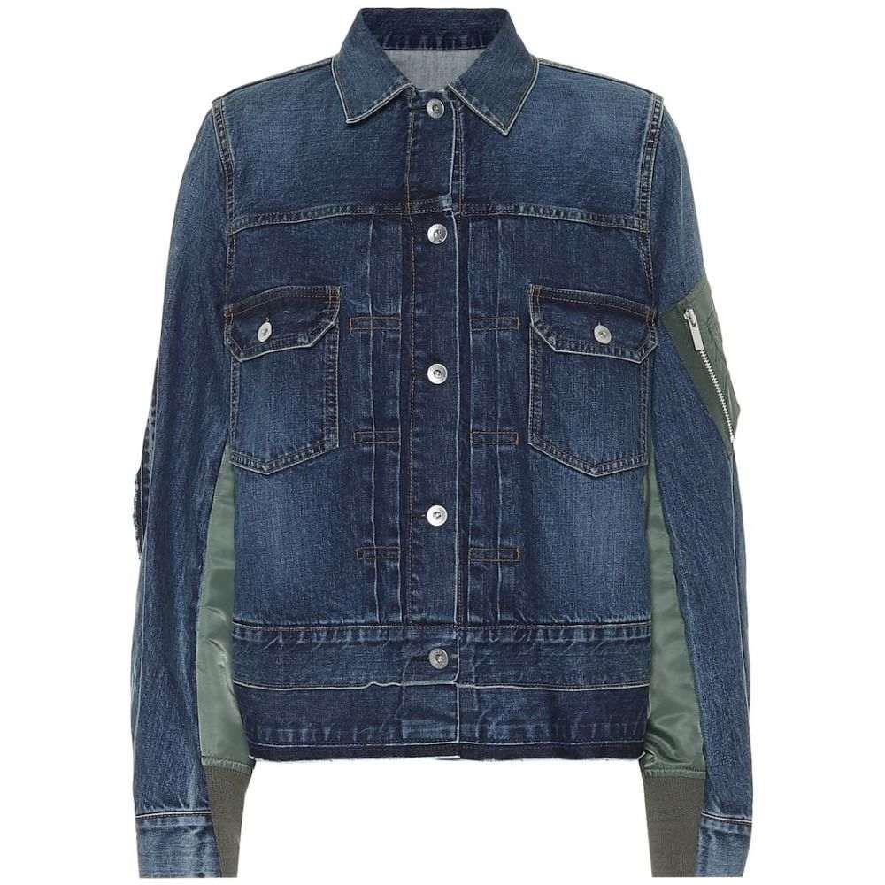 サカイ Sacai レディース ジャケット Gジャン アウター【Paneled denim jacket】Blue