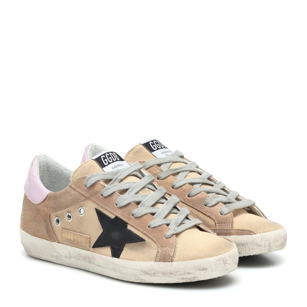 ゴールデン グース Golden Goose レディース スニーカー シューズ・靴【Superstar canvas sneakers】Sand Canvas-Black Star