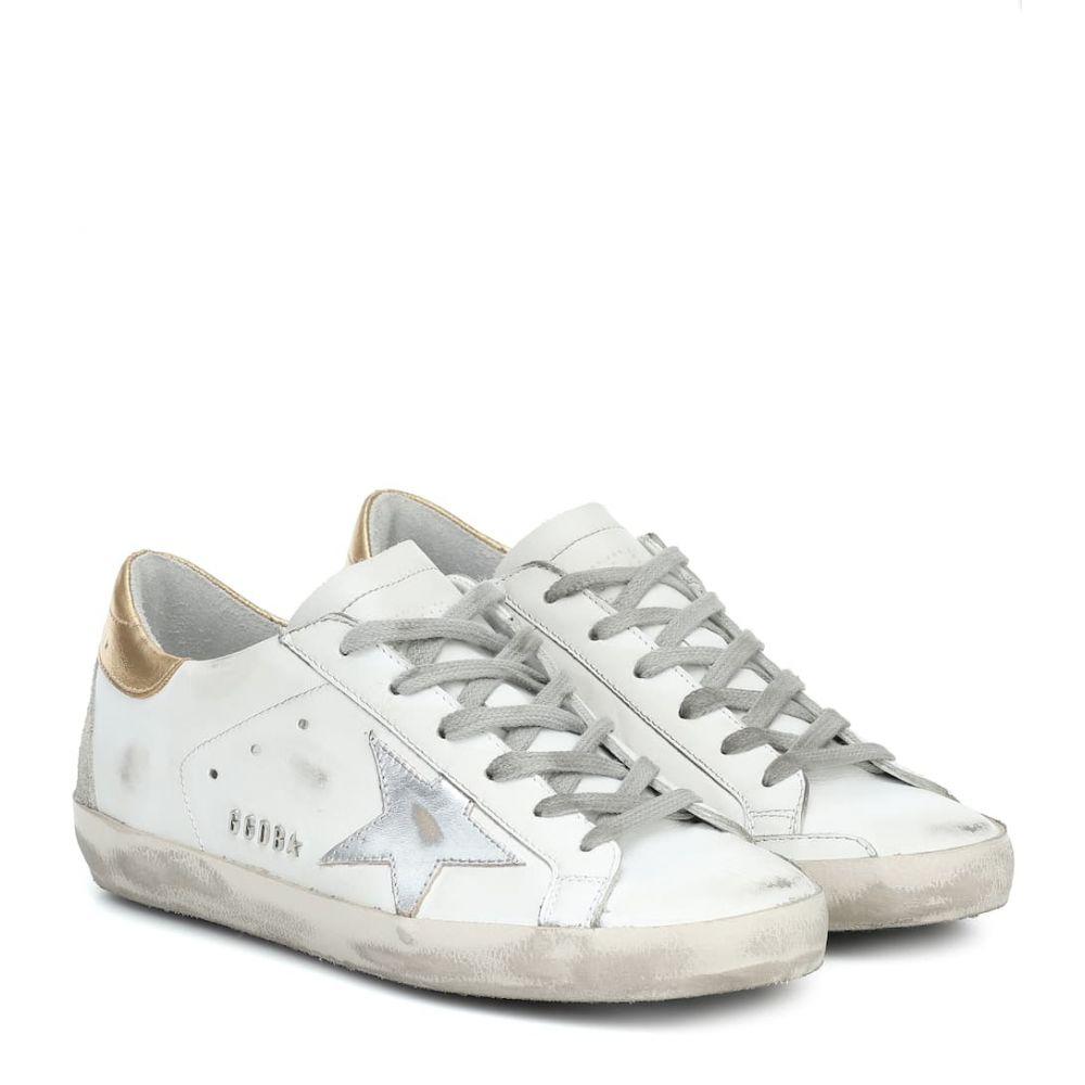 ゴールデン グース Golden Goose レディース スニーカー シューズ・靴【Superstar leather sneakers】White-Gold-Silver Leather-Meta