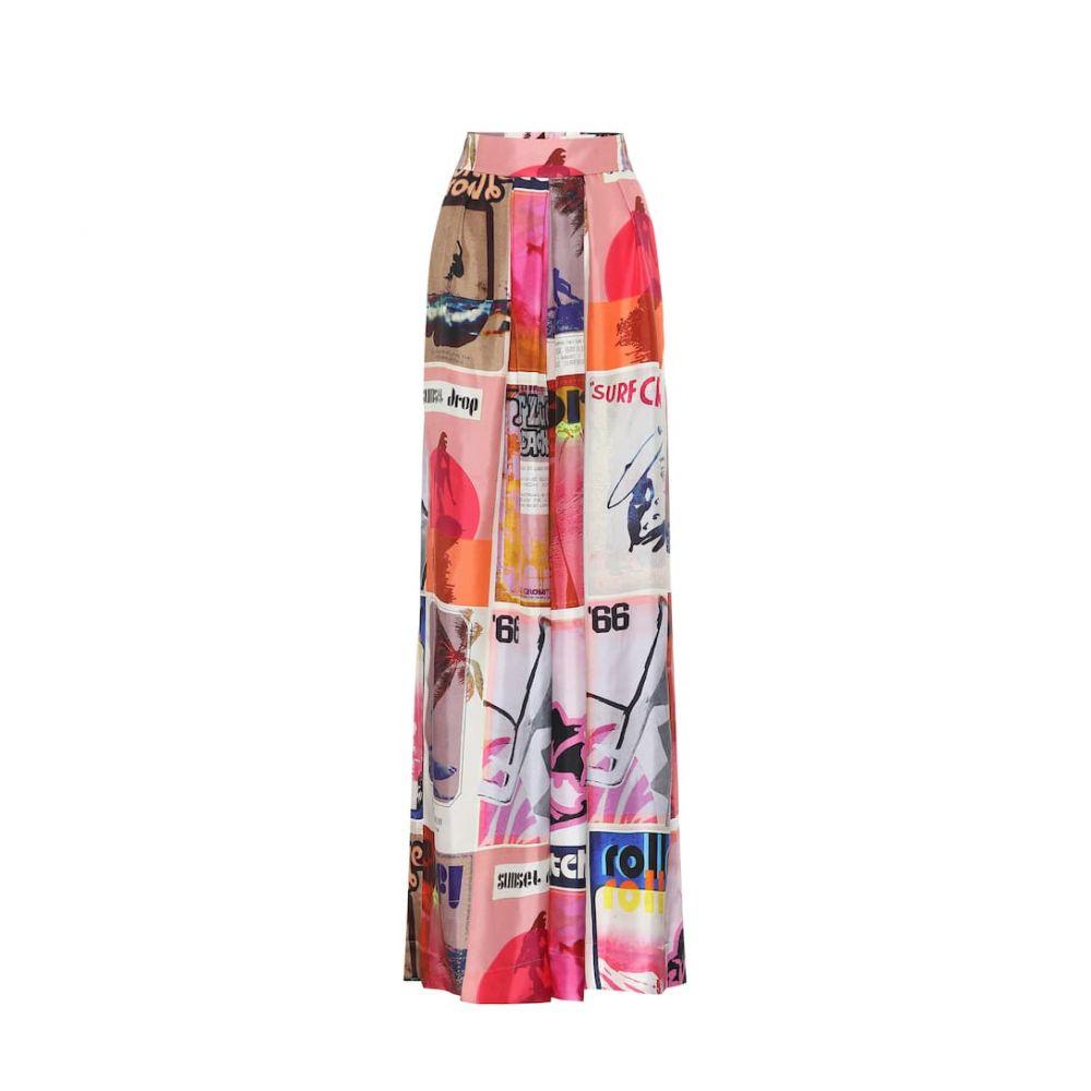 ジマーマン Zimmermann レディース ボトムス・パンツ 【Wavelength high-rise silk pants】Pink Poster Print