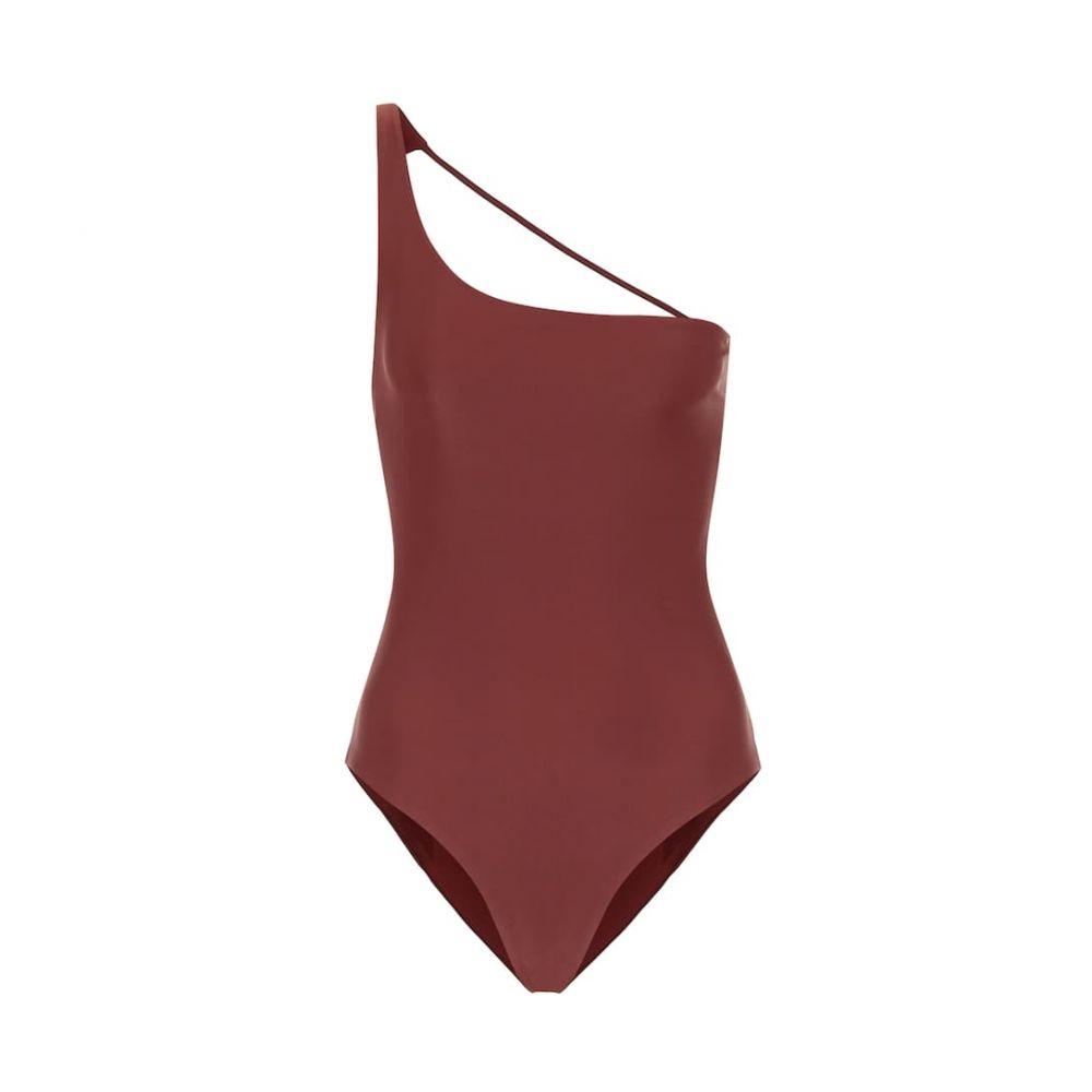 ジェイド Jade Swim レディース ワンピース ワンショルダー 水着・ビーチウェア【Apex one-shoulder swimsuit】Mocha