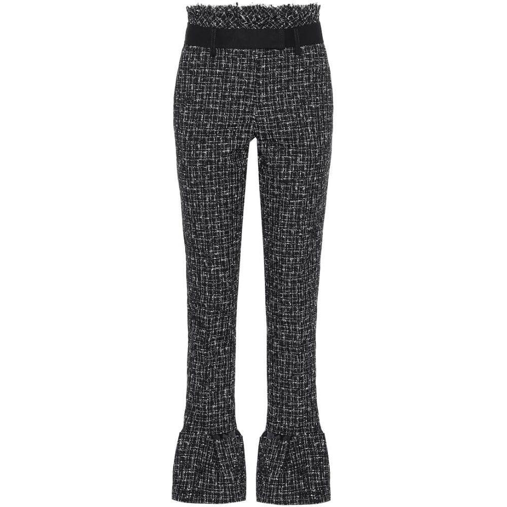 サカイ Sacai レディース スキニー・スリム ボトムス・パンツ【High-rise slim tweed pants】Black